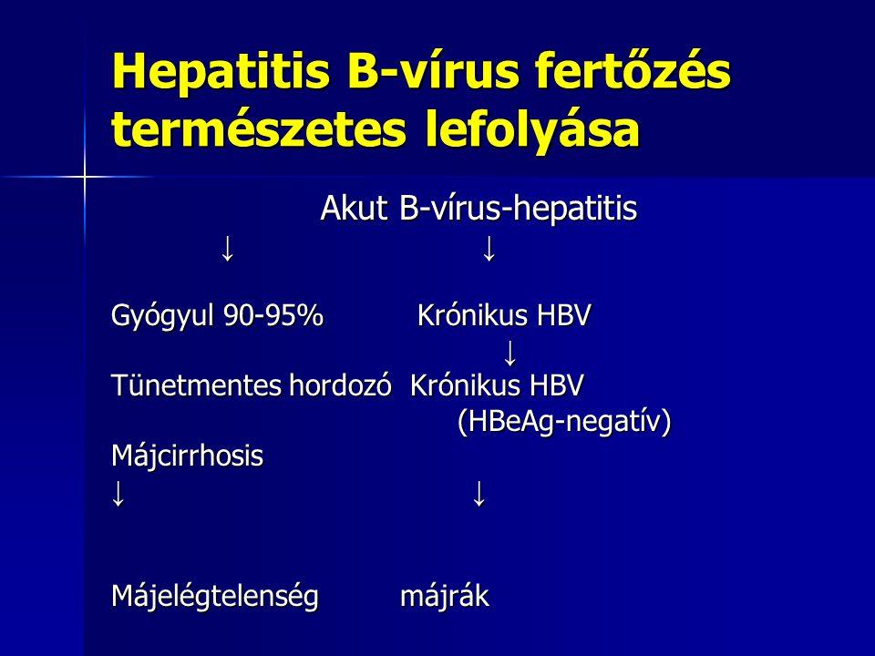 Társulási lehetőség- terjedés-gyakoriság Hepatitis-D-vírus fertőzéssel társulhat, mely kizárólag HBV-fertőzött betegeken okozhat igen súlyos akut vagy krónikus hepatitist.