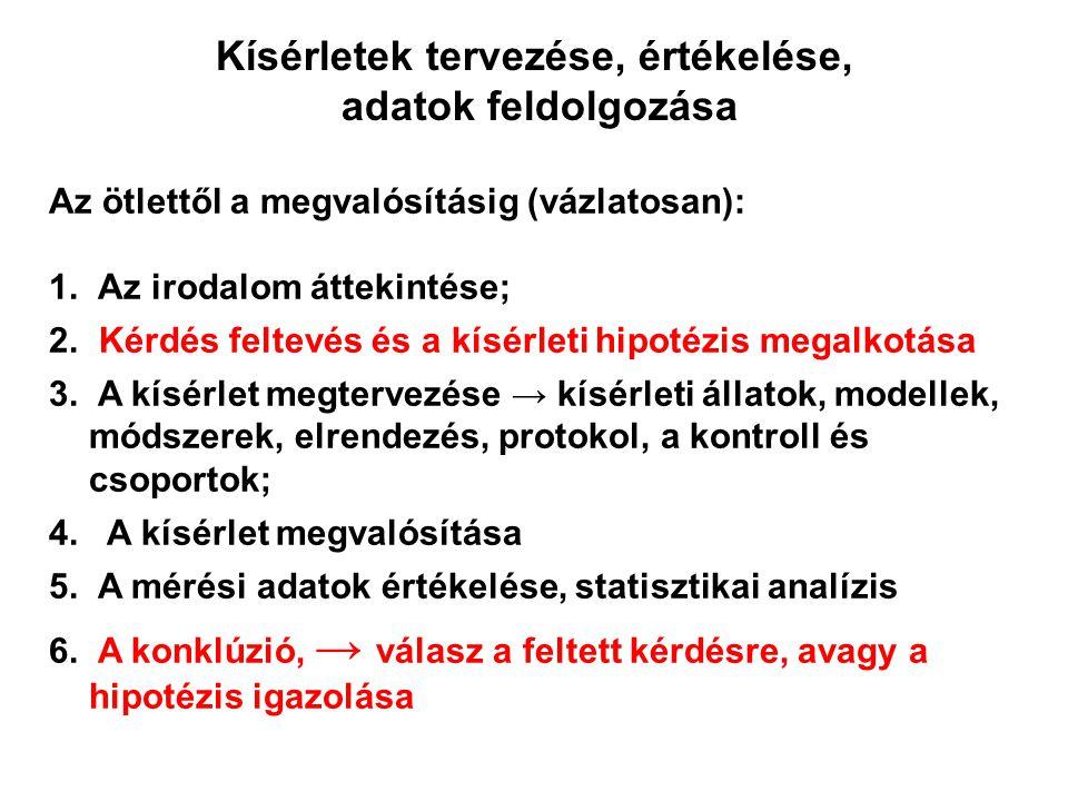 Negatív kontroll (álműtött), Pozitív kontroll (I/R), Kezelt I.