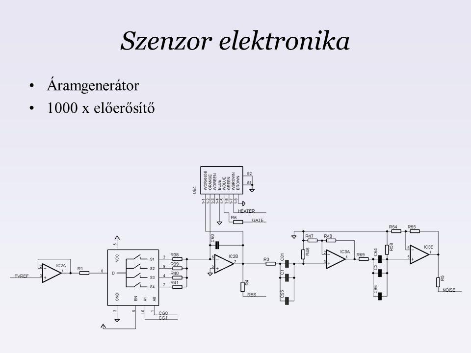 Szenzor elektronika Áramgenerátor 1000 x előerősítő