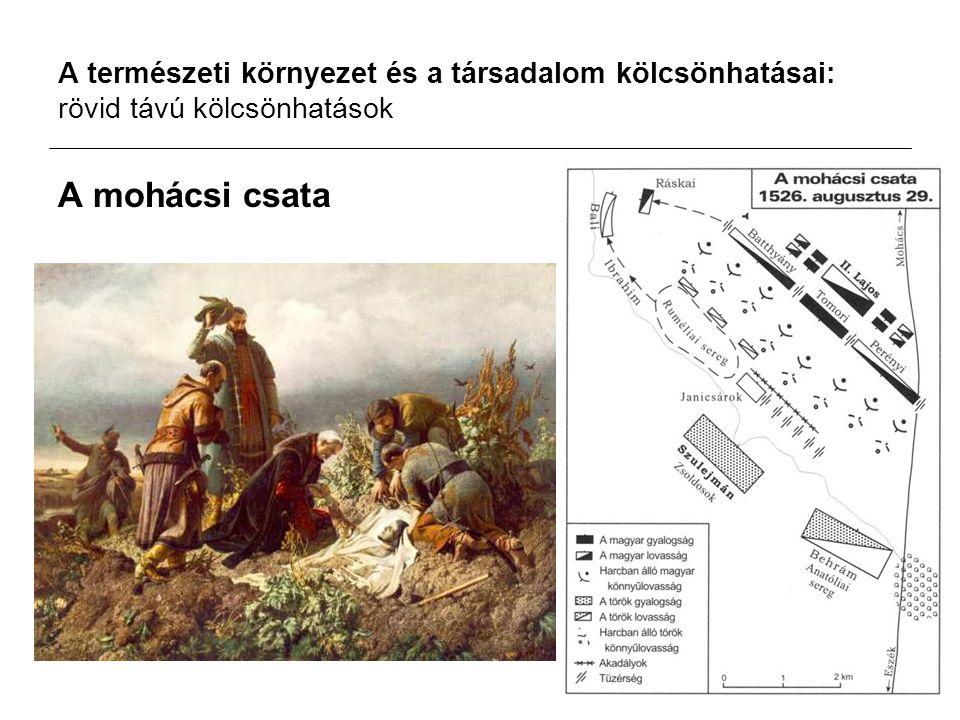 A természeti környezet és a társadalom kölcsönhatásai: rövid távú kölcsönhatások A mohácsi csata