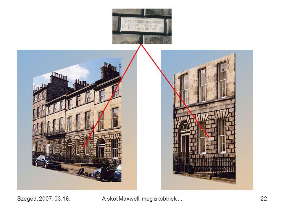 Szeged, 2007.03.16.A skót Maxwell, meg a többiek...21 Maxwell szülőházának helye (Edinburgh, India str. 14.)