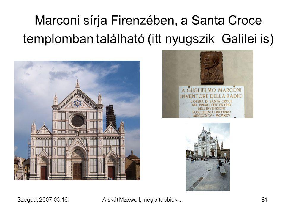 Szeged, 2007.03.16.A skót Maxwell, meg a többiek...80