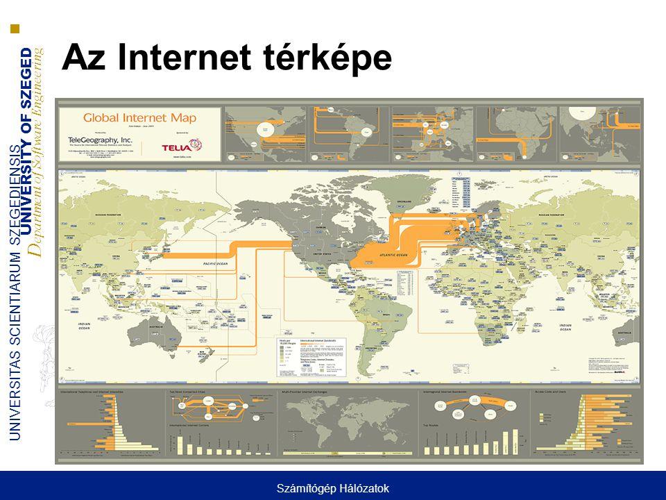 UNIVERSITY OF SZEGED D epartment of Software Engineering UNIVERSITAS SCIENTIARUM SZEGEDIENSIS Az Internet térképe Számítógép Hálózatok