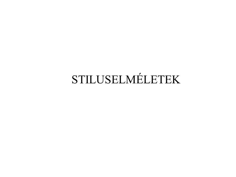 STILUSELMÉLETEK