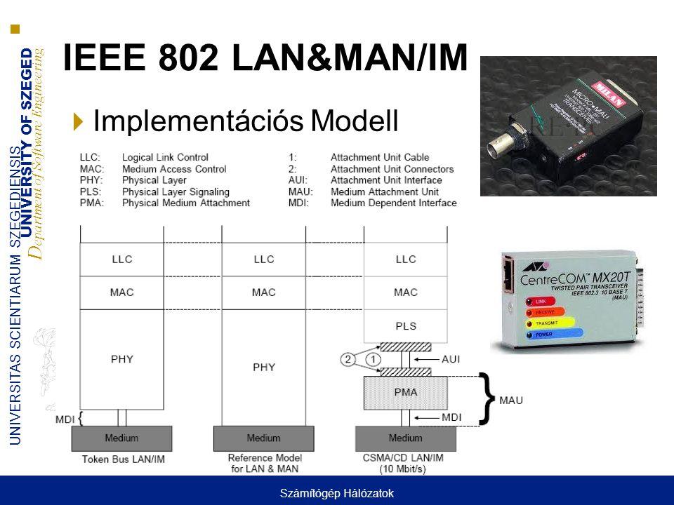 UNIVERSITY OF SZEGED D epartment of Software Engineering UNIVERSITAS SCIENTIARUM SZEGEDIENSIS IEEE 802 LAN&MAN/IM  Implementációs Modell Számítógép H