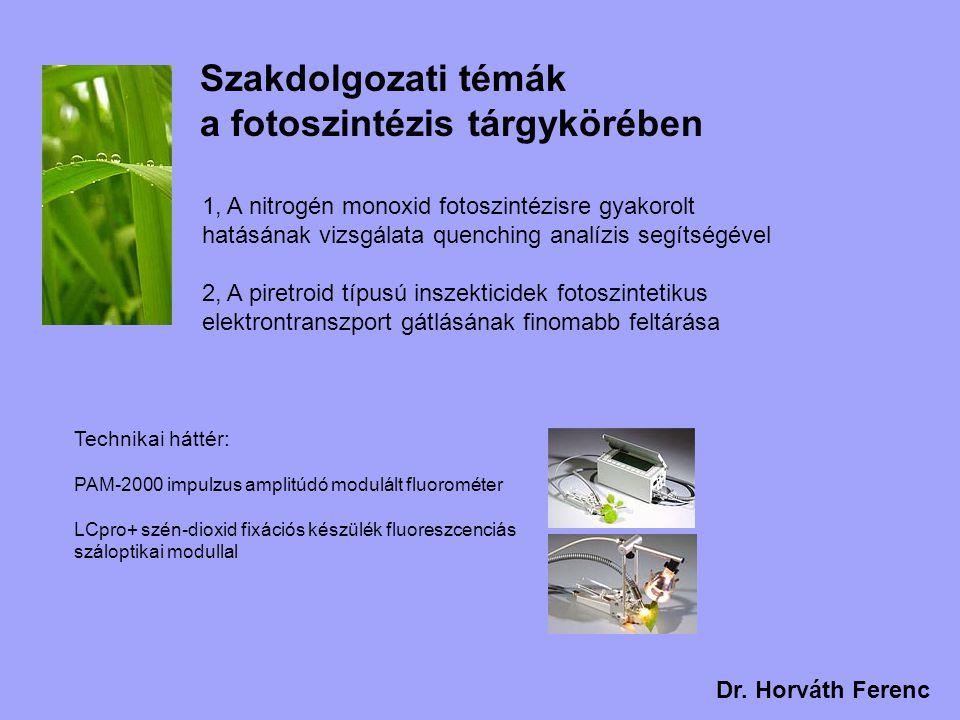 Szakdolgozati témák a növényi membrántranszport tárgykörében Technikai háttér: Új laboratórium a legmodernebb berendezésekkel HEKA EPC 10 patch clamp erősítő Nikon TS100F fluoreszcens inverz mikroszkóp Rezgésmentes pneumatikus asztal Narishige mikromanipulátor HEK sejtvonalak fenntartásához inkubátor, sterilfülke 1, A KAT1 ioncsatorna működésének vizsgálata alacsony kálium koncentráció mellett, heterológ expressziós rendszerben 2, A nitrogén monoxid ioncsatorna működést reguláló szerepe zárósejtekben Dr.