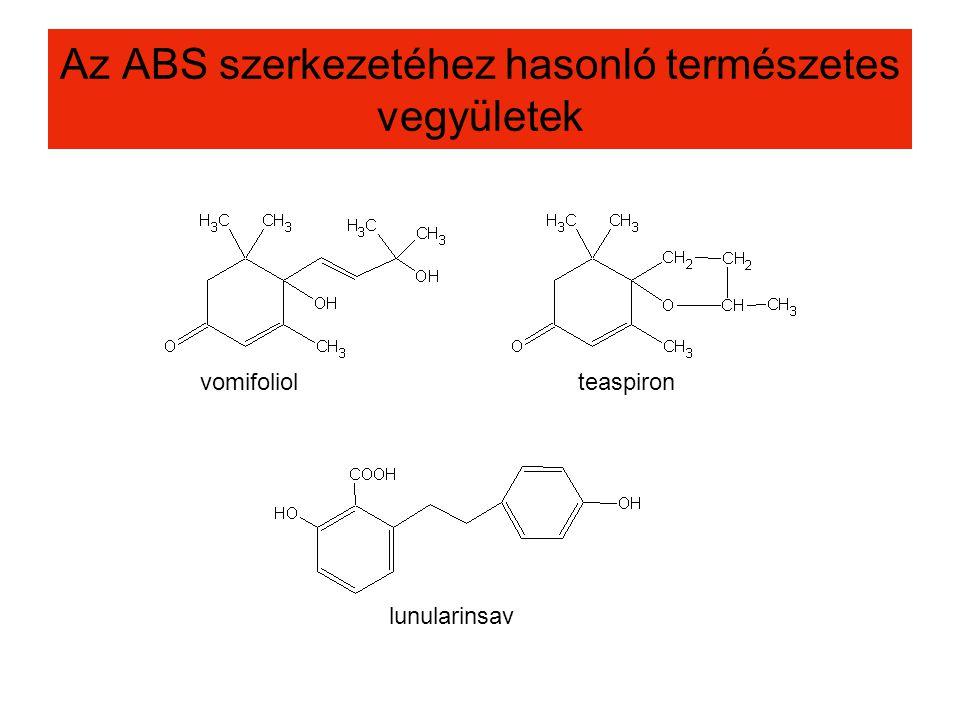 Az ABS szerkezetéhez hasonló természetes vegyületek vomifoliolteaspiron lunularinsav
