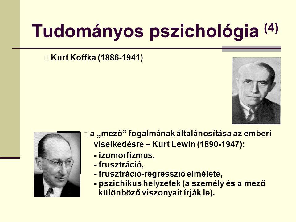 """Tudományos pszichológia (4) Kurt Koffka (1886-1941) a """"mező"""" fogalmának általánosítása az emberi viselkedésre – Kurt Lewin (1890-1947): - izomorfizmus"""
