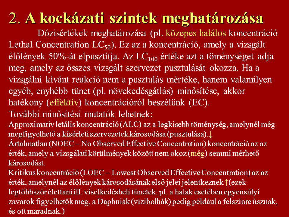 Néhány nem önkéntes kockázati szint összehasonlítása Kockázati elem Influenza Leukémia Gázolás (autó) Árvizek Tornádók (US, MW) Földrengés (CA) Nukleáris erőmű Meteorit becsapódás Halálozási kockázat/fő/év 1: 5,000 (2×10 -4 ) ?.