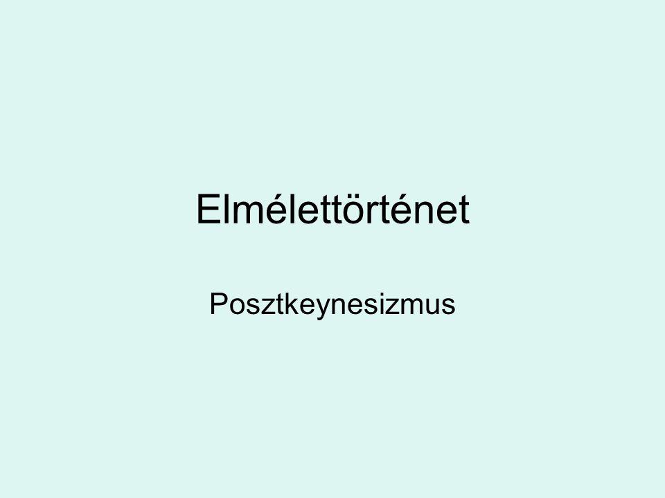 Elmélettörténet Posztkeynesizmus
