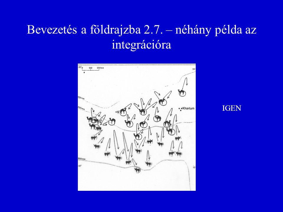 Bevezetés a földrajzba 2.7. – néhány példa az integrációra IGEN