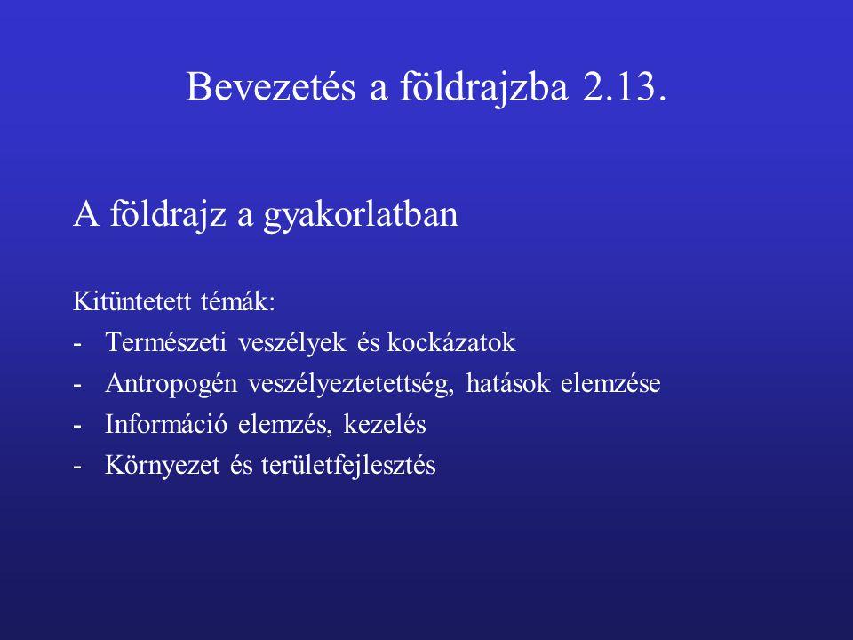 Bevezetés a földrajzba 2.13.