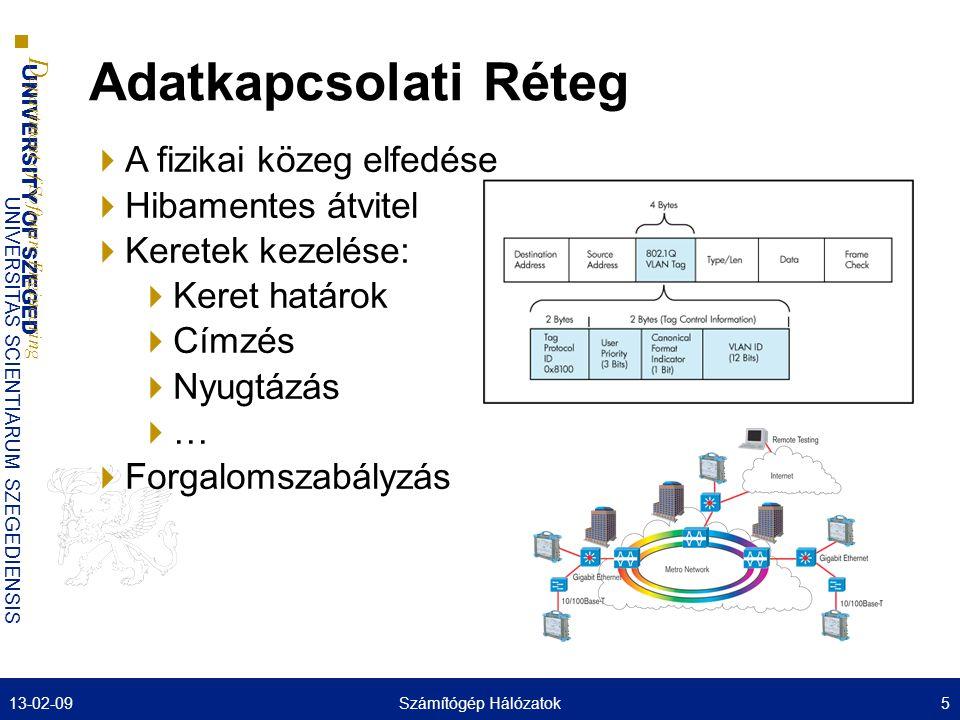 UNIVERSITY OF SZEGED D epartment of Software Engineering UNIVERSITAS SCIENTIARUM SZEGEDIENSIS Hálózati Réteg  Nagy, skálázható, robosztus hálózat kialakítása  Útvonalak kiválasztása 13-02-096Számítógép Hálózatok