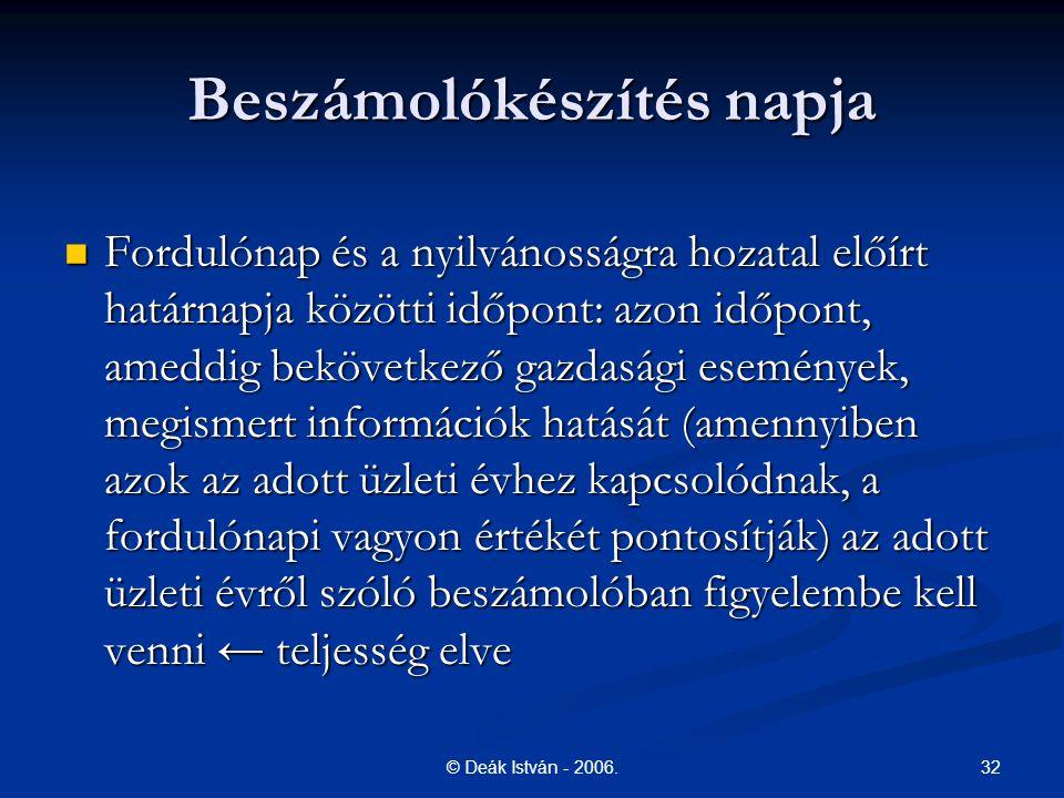 32© Deák István - 2006.