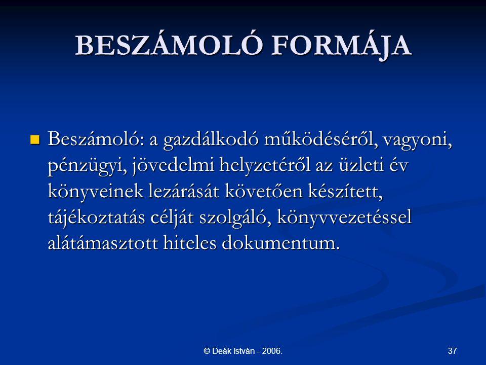 37© Deák István - 2006.