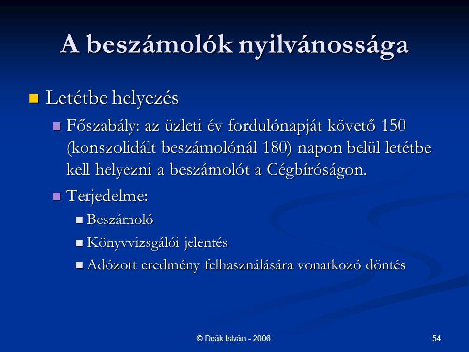 54© Deák István - 2006.
