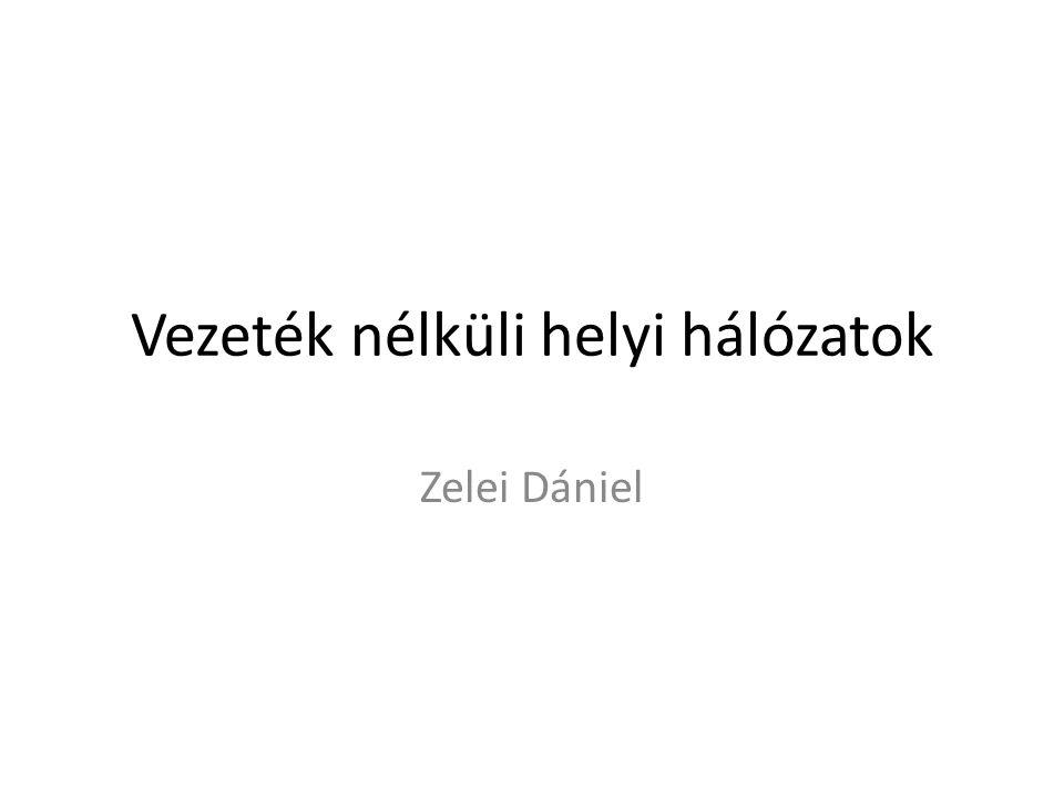 Vezeték nélküli helyi hálózatok Zelei Dániel