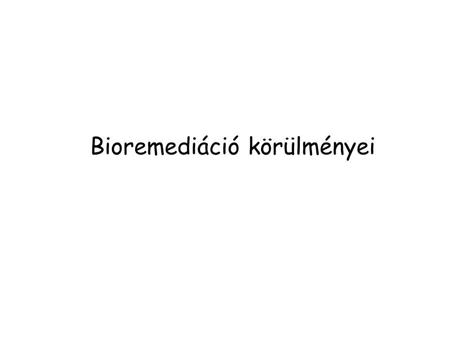 Bioremediáció körülményei