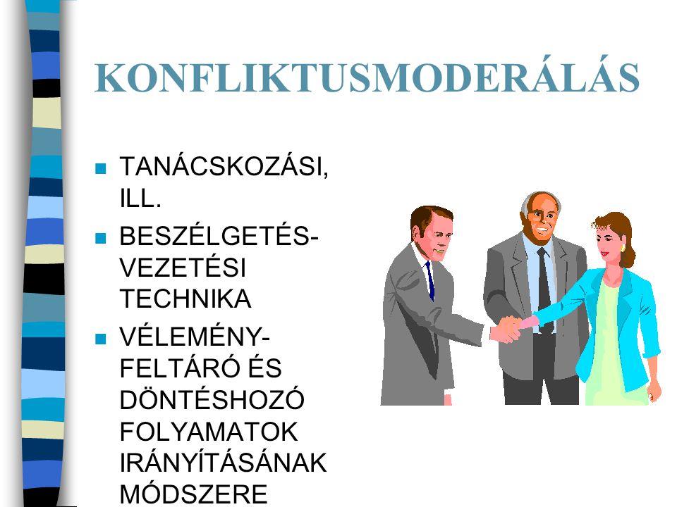 KONFLIKTUSMODERÁLÁS n TANÁCSKOZÁSI, ILL.