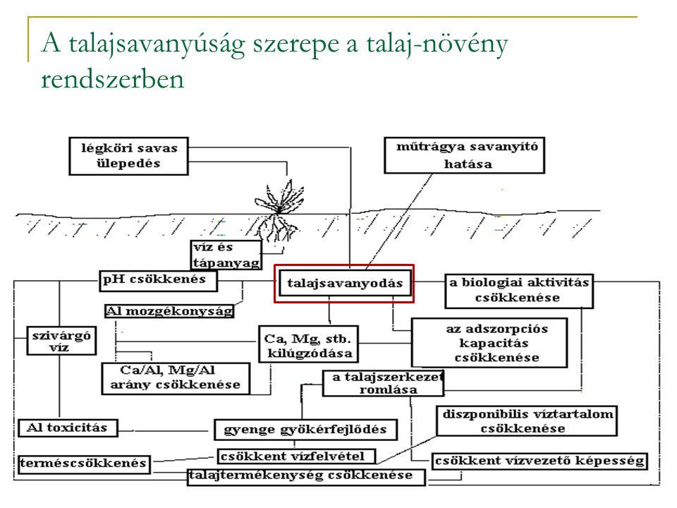 A talajsavanyúság szerepe a talaj-növény rendszerben