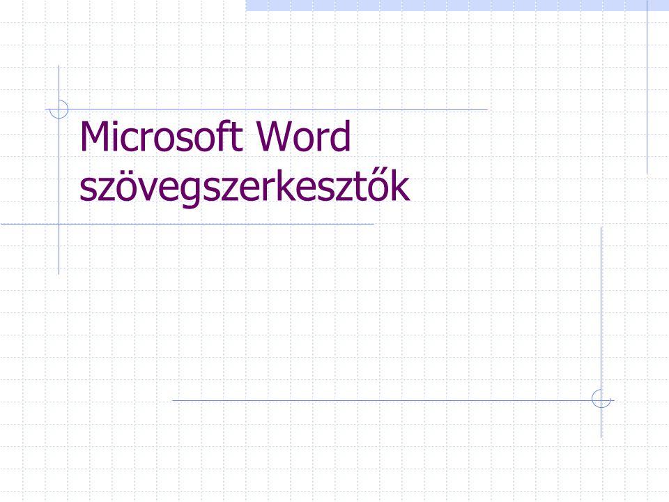 Microsoft Word szövegszerkesztők