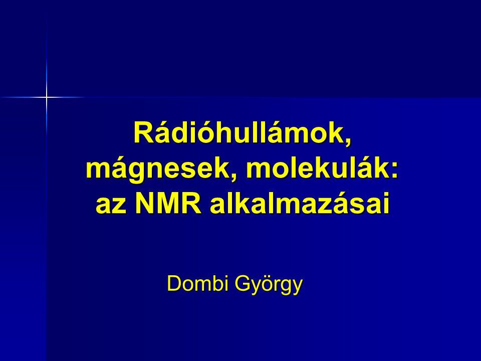 Rádióhullámok, mágnesek, molekulák: az NMR alkalmazásai Dombi György