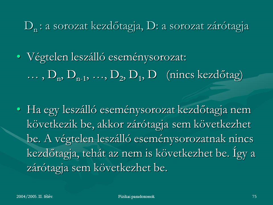 2004/2005.II. félév.Fizikai paradoxonok76 2.