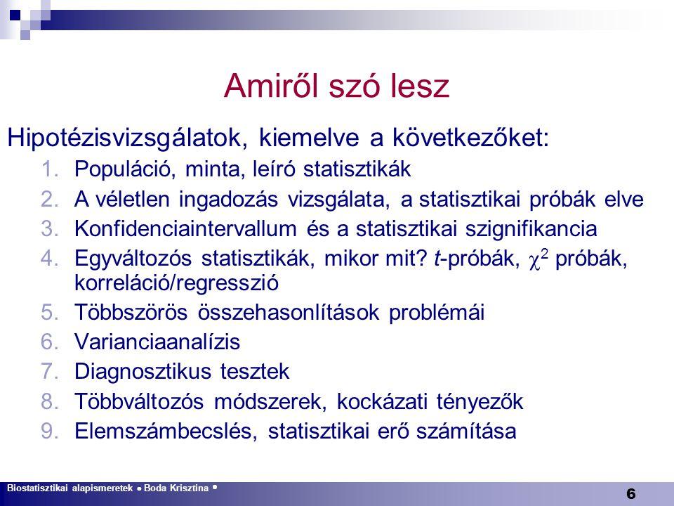 127 Lépések A probléma megértése A statisztikai próba megválasztása Az elsődleges kérdés megfogalmazása (becslés v.