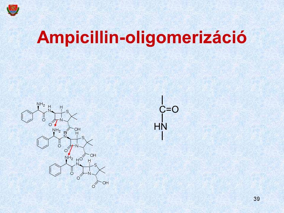 39 Ampicillin-oligomerizáció C=O HN
