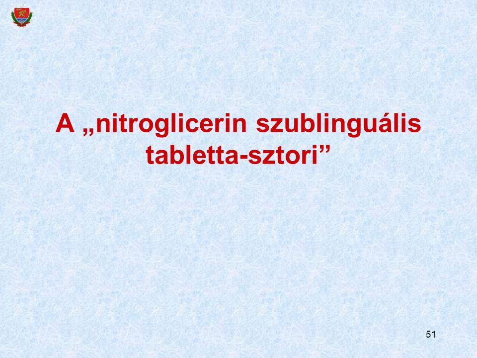 "51 A ""nitroglicerin szublinguális tabletta-sztori"