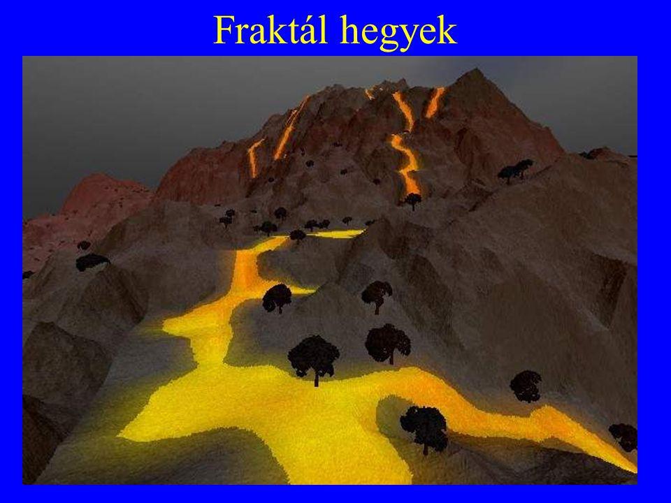 Fraktál hegyek