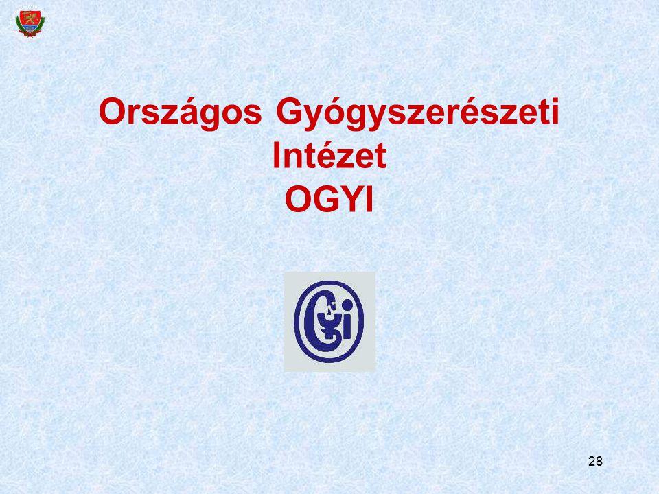 28 Országos Gyógyszerészeti Intézet OGYI