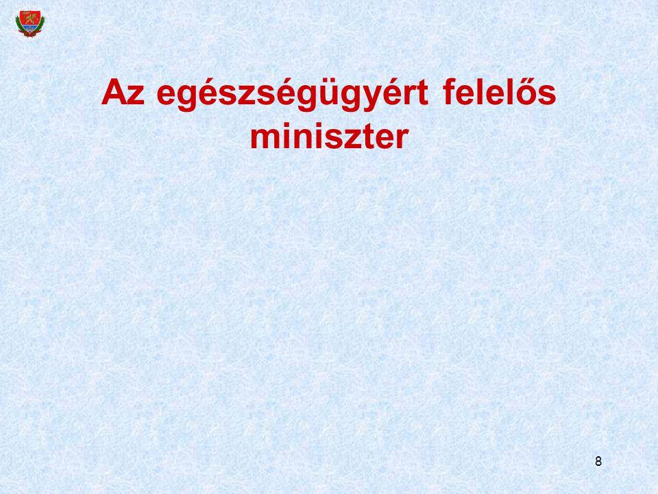 8 Az egészségügyért felelős miniszter