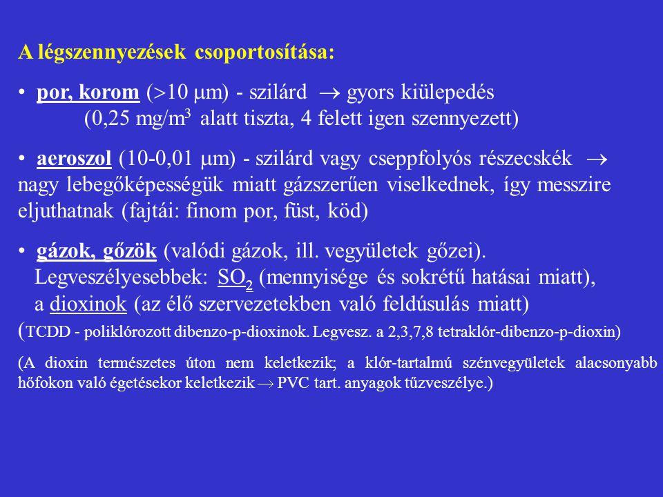 3.Emisszió és immisszió fogalma emisszió - környezetszennyező anyag kibocsátása (pl.