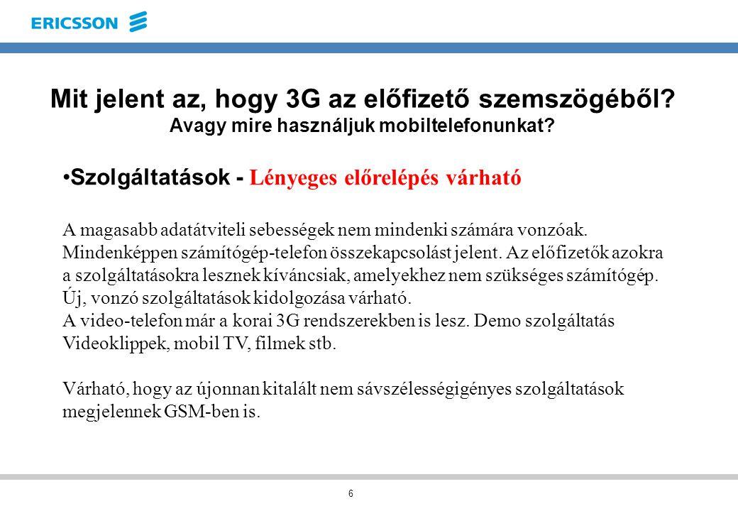 6 Mit jelent az, hogy 3G az előfizető szemszögéből.
