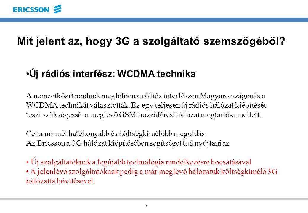 7 Mit jelent az, hogy 3G a szolgáltató szemszögéből.