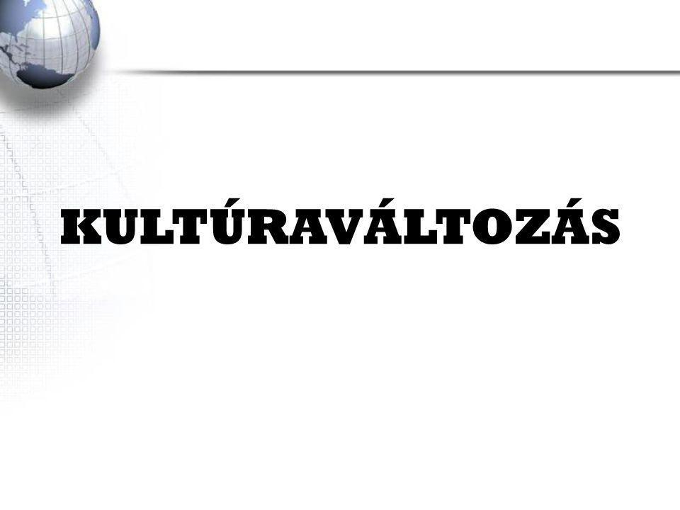 KULTÚRAVÁLTOZÁS