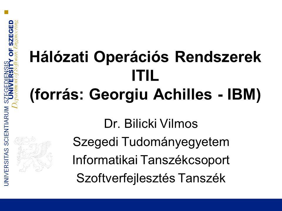 UNIVERSITY OF SZEGED D epartment of Software Engineering UNIVERSITAS SCIENTIARUM SZEGEDIENSIS Igény teljesítés 2014.