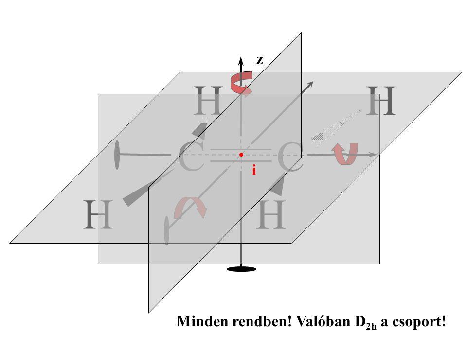 Az etilén kötésrendszere A két szén között egy  - és egy  -kötést feltételezünk, mivel a molekula merev.