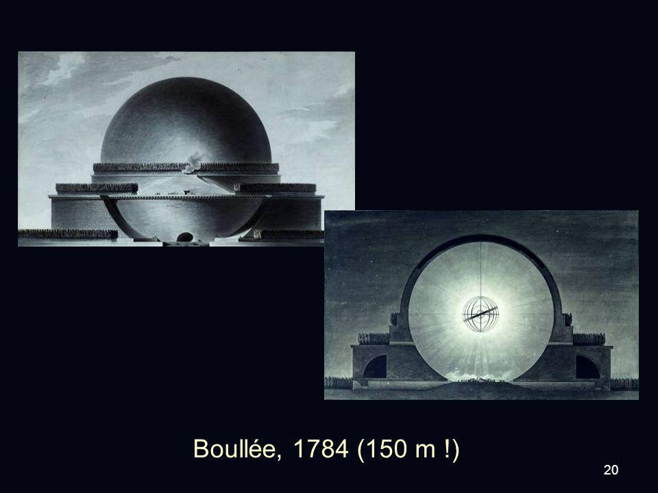 20 Boullée, 1784 (150 m !)
