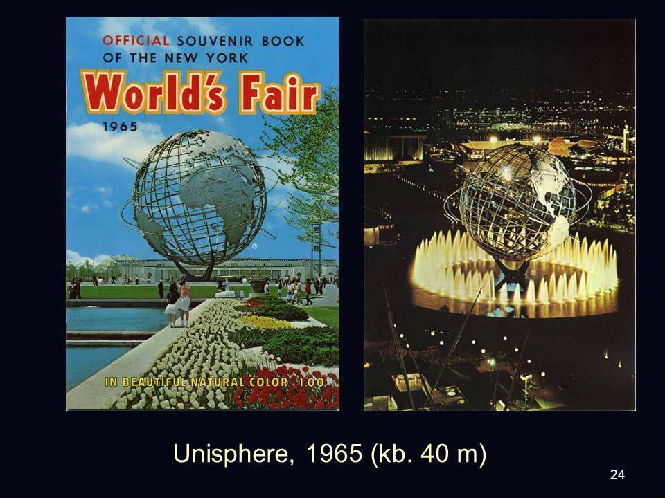 24 Unisphere, 1965 (kb. 40 m)