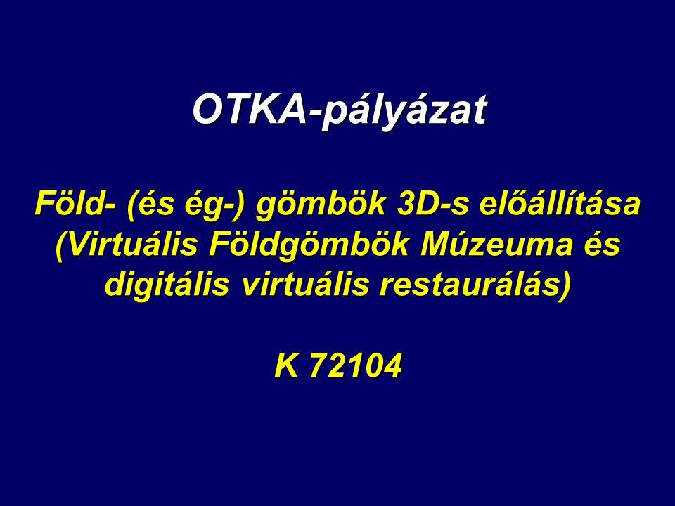Az OTKA-pályázatban kitűzött célok (2007.
