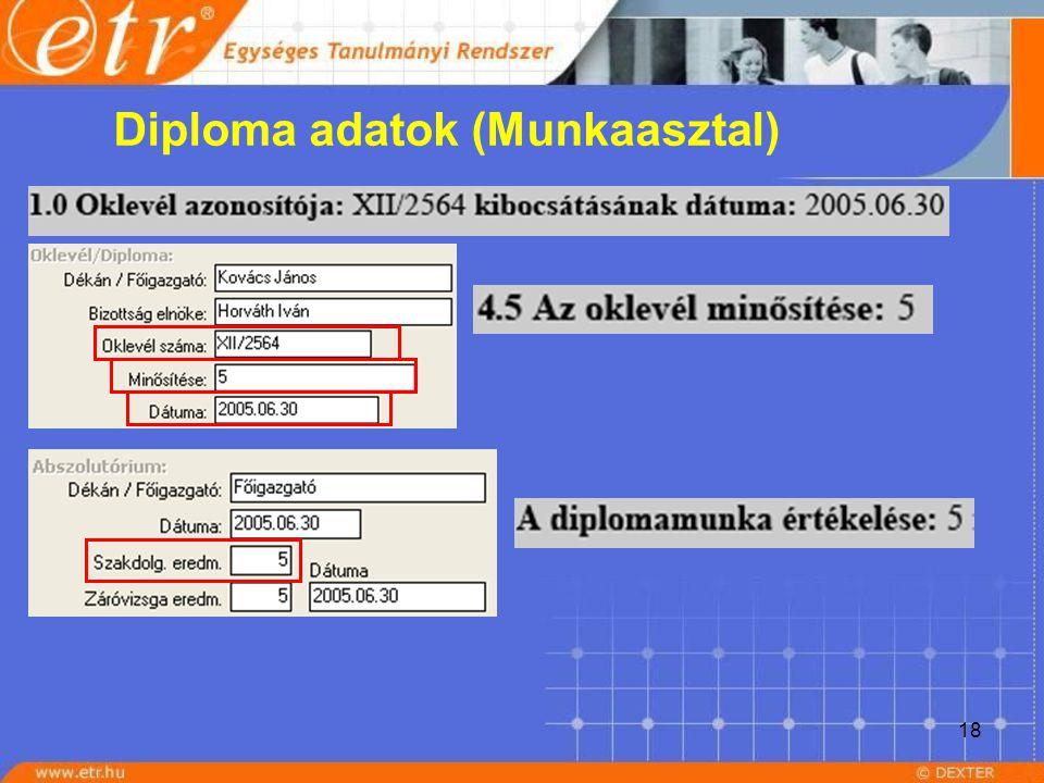 18 Diploma adatok (Munkaasztal)