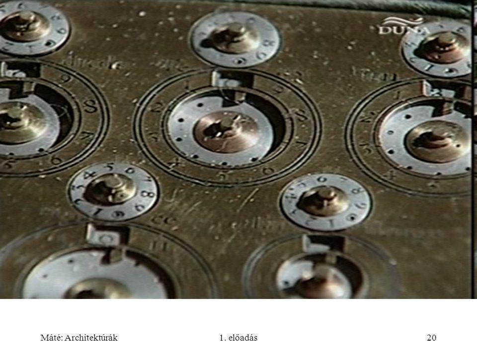 Máté: Architektúrák1. előadás20
