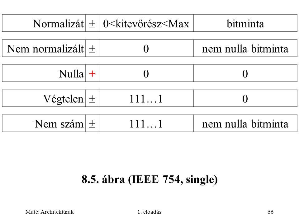 Máté: Architektúrák1.előadás66 8.5.