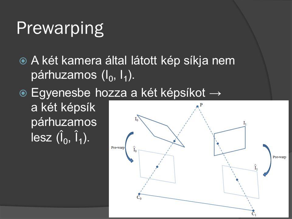 Prewarping