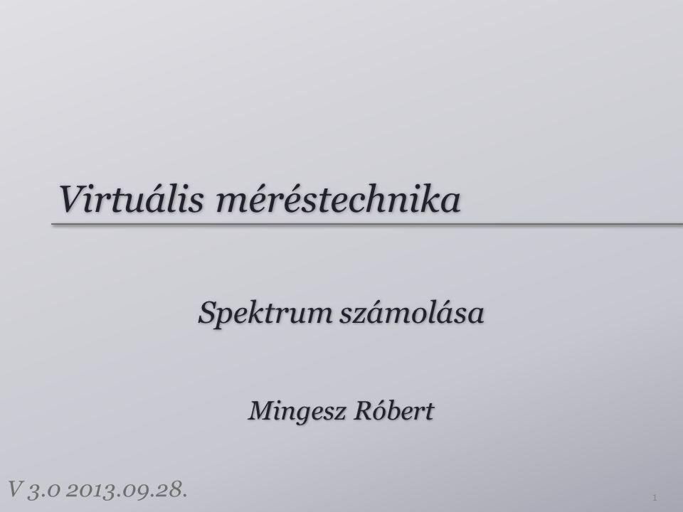 Virtuális méréstechnika Spektrum számolása 1 Mingesz Róbert V 3.0 2013.09.28.