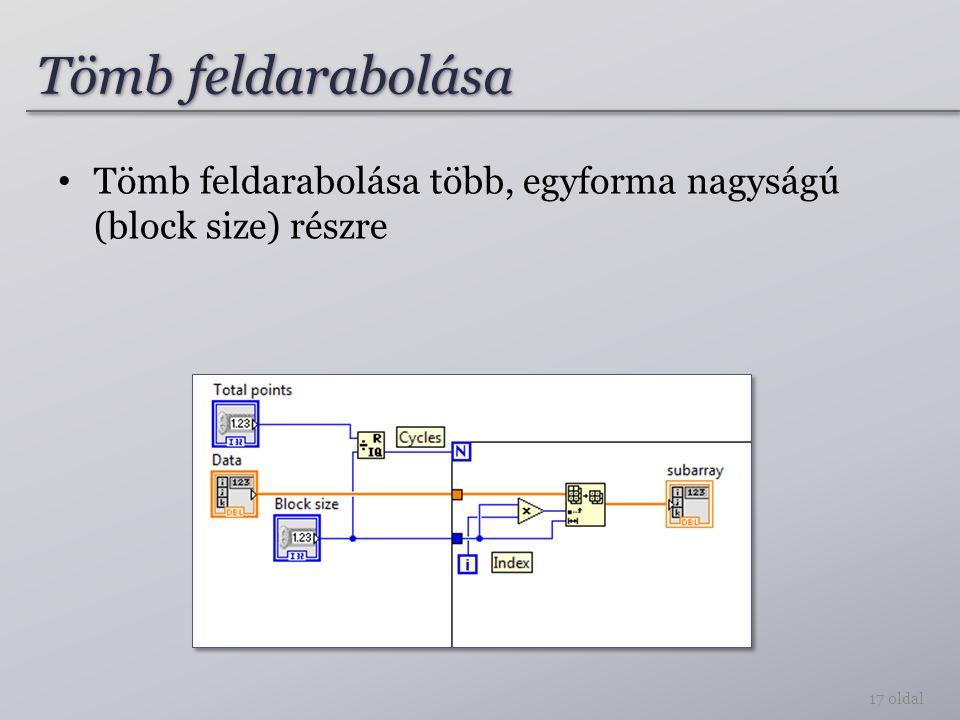 Tömb feldarabolása több, egyforma nagyságú (block size) részre Tömb feldarabolása 17 oldal