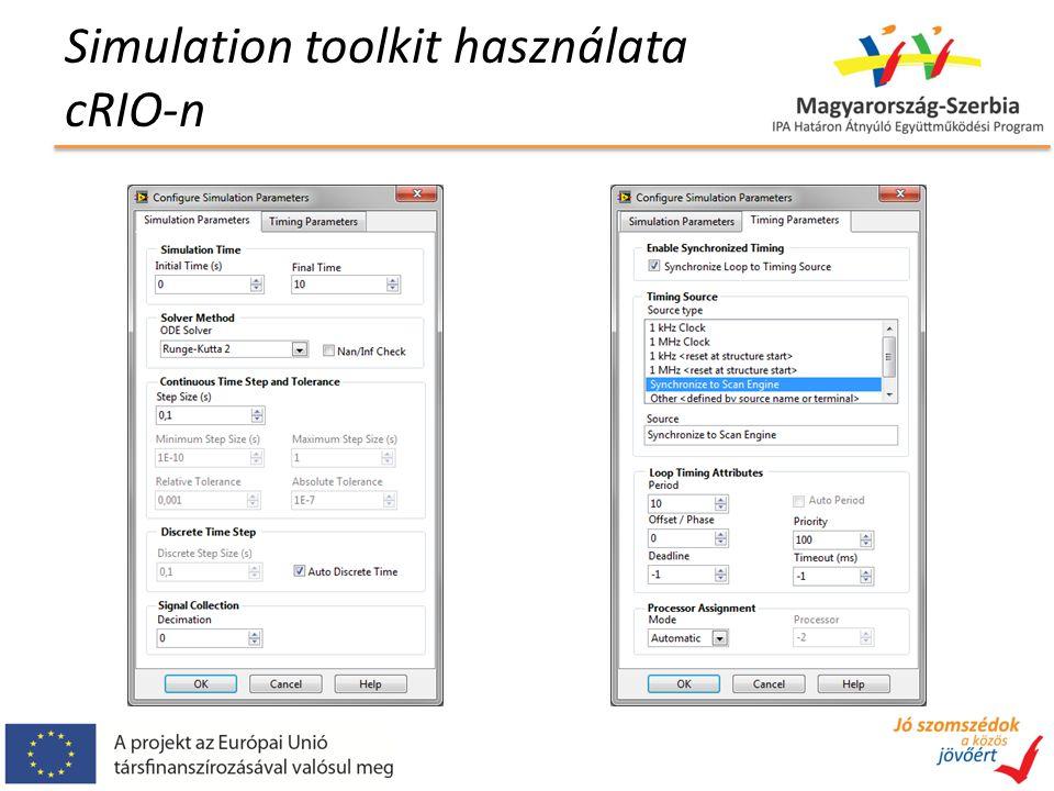 Simulation toolkit használata cRIO-n