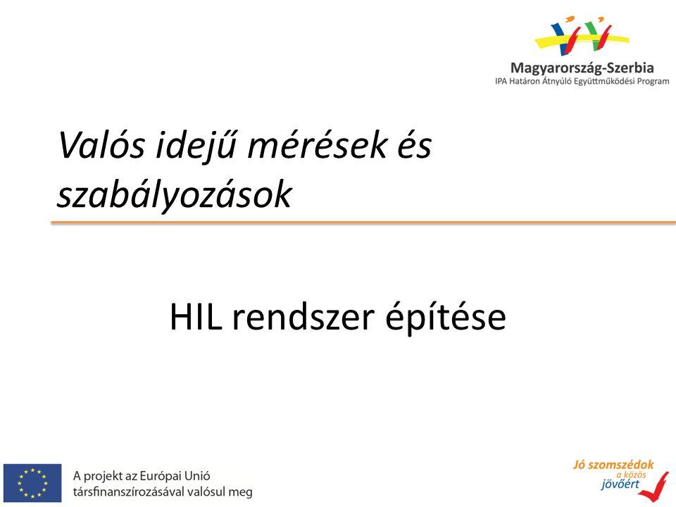 Valós idejű mérések és szabályozások HIL rendszer építése